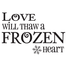 Love Will Thaw A Frozen Heart. (snowflakes)