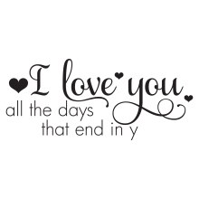 I Love You All The Days That End In Y.