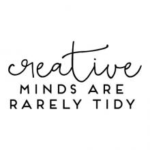 Creative minds are rarely tidy wall quotes vinyl letter wall decal home decor vinyl lettering craft room art studio