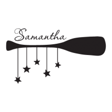 personalize d oar with starfish decal