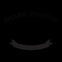 Shark fishing decal