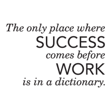 Success Never Comes Before Work Wall Quotes™ Decal perfect for home or office