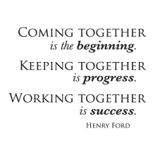Coming Keeping Working Together Wall Quotes™ Decal perfect for any home or office