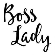 Boss Lady Handwritten Wall Quotes Decal feminism vinyl office decor female girl boss