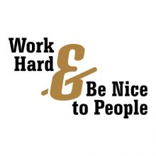 Work hard & be nice to people wall quotes vinyl lettering wall decal home decor office professional golden rule office rules