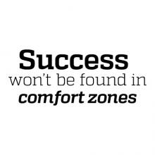 Success won't be found in comfort zones wall quotes vinyl lettering wall decal home decor office professional hr home office desk out of the box