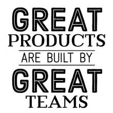 Great Products Great Teams Wall Quotes™ Decal wall quotes vinyl lettering wall decal home décor team motivation work family office space proud office team