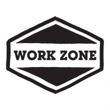Work Zone badge retro wall quotes vinyl decal office desk professional home