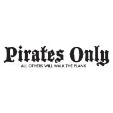 pirates only wall decal