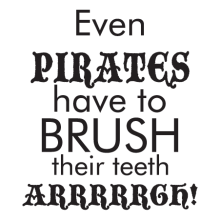 pirates brush teeth arrrgh wall decal