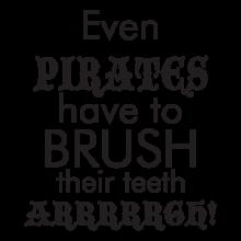 pirates brush teeth arrrgh wall decal