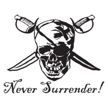 never surrender wall decal