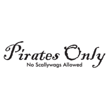 no scallywags allowed wall decal
