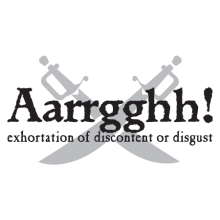 Aaarrgghh pirate definition wall decal