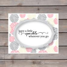 leave little sparkle wherever you go print