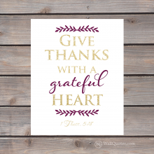 give thanks with a grateful heart print