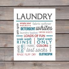 laundry subway art print
