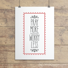 Pray More Frame Dashes Wall Quotes™ Giclée Art Print