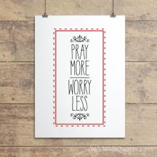 Pray More Frame Dashes Wall Quotes™ Giclée Art Print