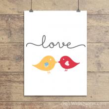 Love Birds Wall Quotes™ Giclée Art Print