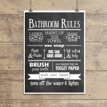 Bathroom Wall Quotes™ Giclée Art Print
