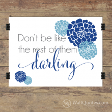 Darling Wall Quotes™ Giclée Art Print Navy