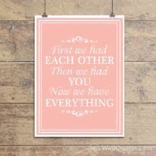 Now We Have Everything Wall Quotes™ Giclée Art Print