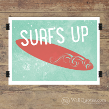 Surf's Up Hand Wall Quotes™ Giclée Art Print