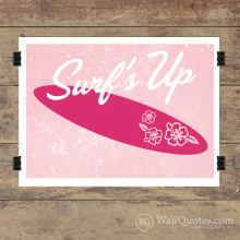 Surf's Up Script Hibiscus Wall Quotes™ Giclée Art Print