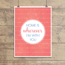 Wherever I'm With You Wall Quotes™ Giclée Art Print