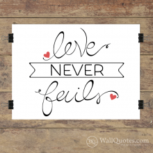 Love Never Fails Wall Quotes™ Giclée Art Print
