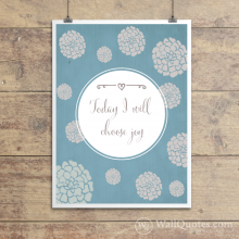 I Will Choose Joy Wall Quotes™ Giclée Art Print