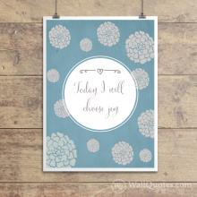 I Will Choose Joy Wall Quotes™ Giclée Art Print