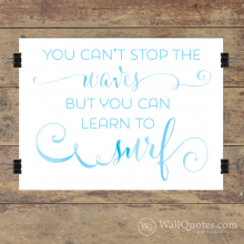 Learn To Surf Wall Quotes™ Giclée Art Print