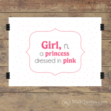 Girl Princess Definition Wall Quotes™ Giclée Art Print