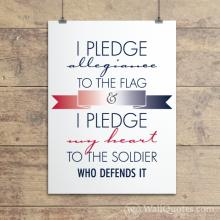I Pledge Allegiance Wall Quotes™ Giclée Art Print