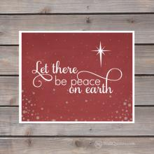 let there be peace on earth wall print