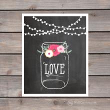 mason jar love print