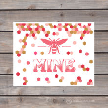 bee mine honeycomb print