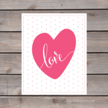 love heart polkadot print