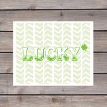 lucky Irish print