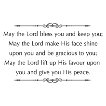 may the Lord bless you with peace wall decal
