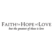 faith hope love scripture wall decal