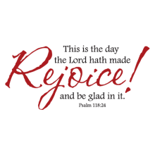 rejoice and be glad scripture wall decal
