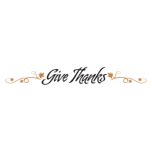 give thanks religious wall quotes decal
