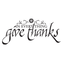 calligraphy give thanks religious wall decal