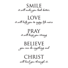 Christ Will Lead You Through It Wall Quotes™ Decal perfect for any home
