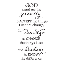 Serenity Prayer Elegant Wall Quotes™ Decal perfect for any home