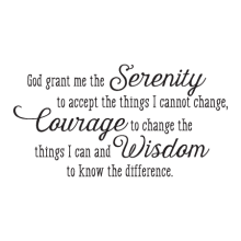 Serenity Prayer Whimsical Wall Quotes™ Decal perfect from any home