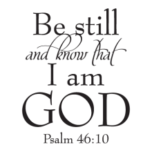 Be still and know that I am God Psalm 46:10 wall quotes vinyl lettering wall decal home decor religious christian bible quotes